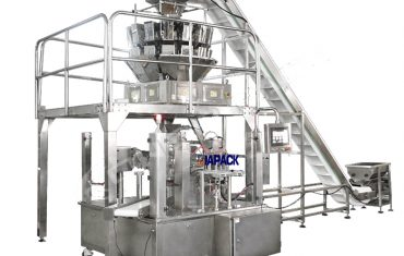 Automatic dry fruit standup pouch filling and sealing equipment
