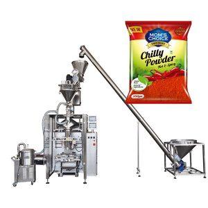 VFFS Bagger包裝機,配有用於辣椒粉和辣椒食品粉的俄歇填料