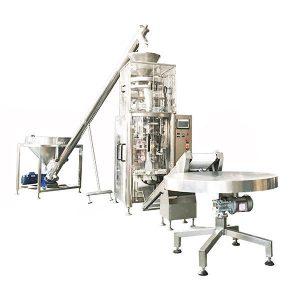 立式填充密封機與容量杯用於顆粒